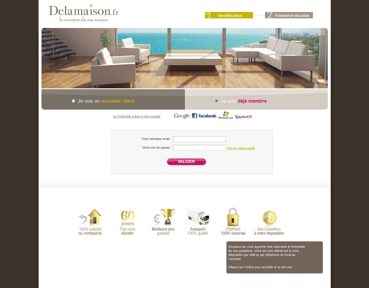 service client delamaison ios delamaison dco et. Black Bedroom Furniture Sets. Home Design Ideas