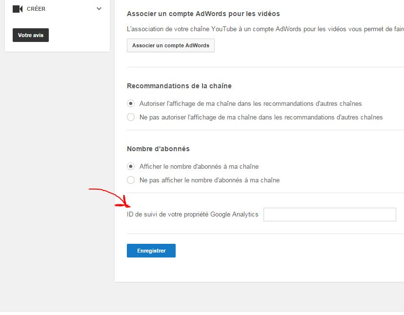 Connecter Youtube et Google Analytics