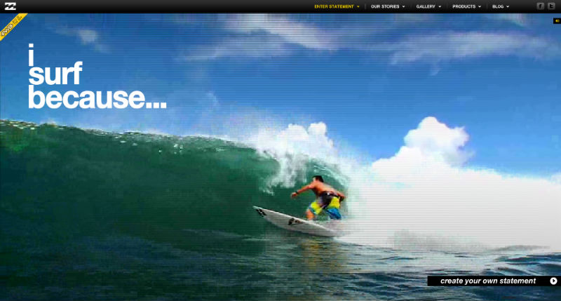 Billabong home page