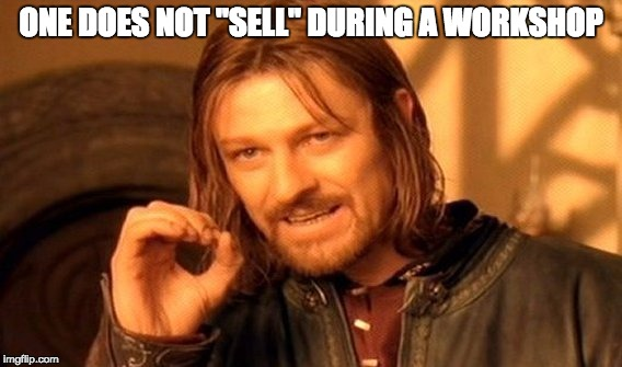 One does not sale meme