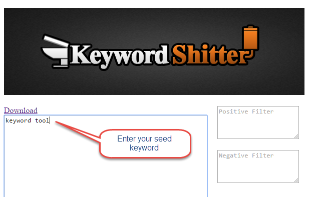 Keyword shitter search SEO