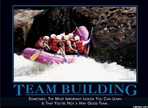 Team building meme