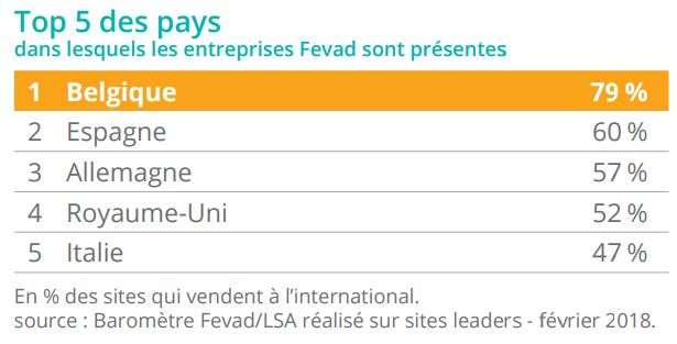 Top5 pays FEVAD