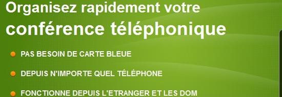 Organisez des téléconférences facilement, avec un simple téléphone