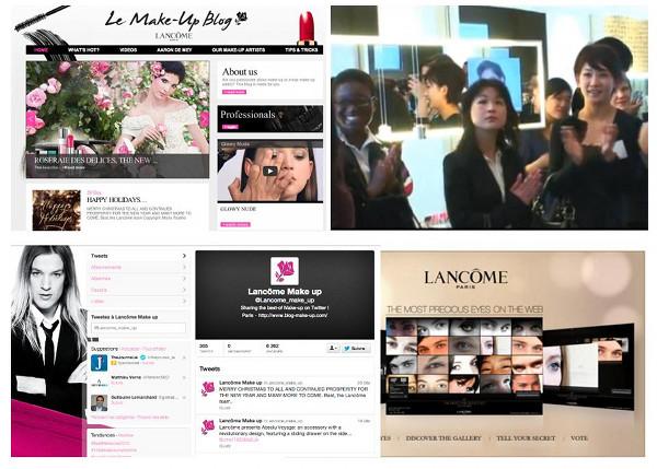 Lancome social webmarketing luxe