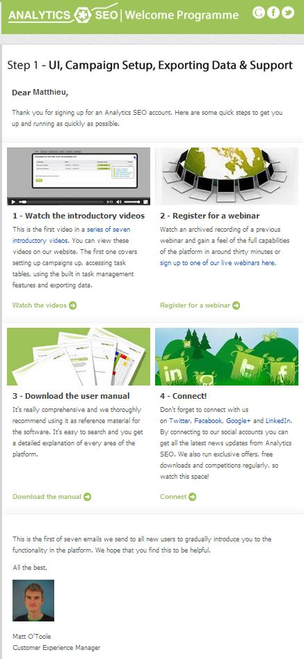Exemple d'e-mail tutoriel