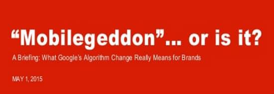 #Slideshare du Vendredi : Mobilegeddon, un désastre ?