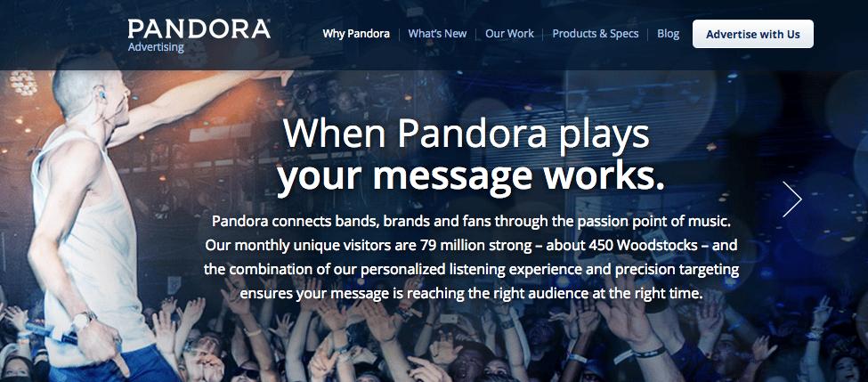Pandora Advertising USP