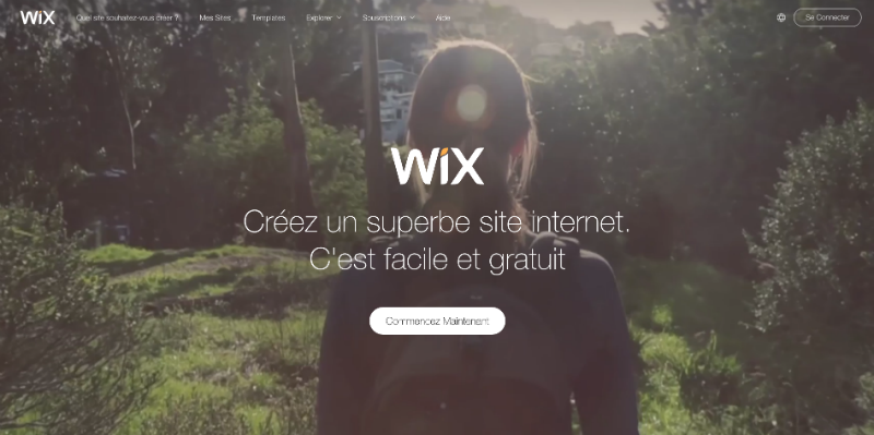Wix Homepage Video