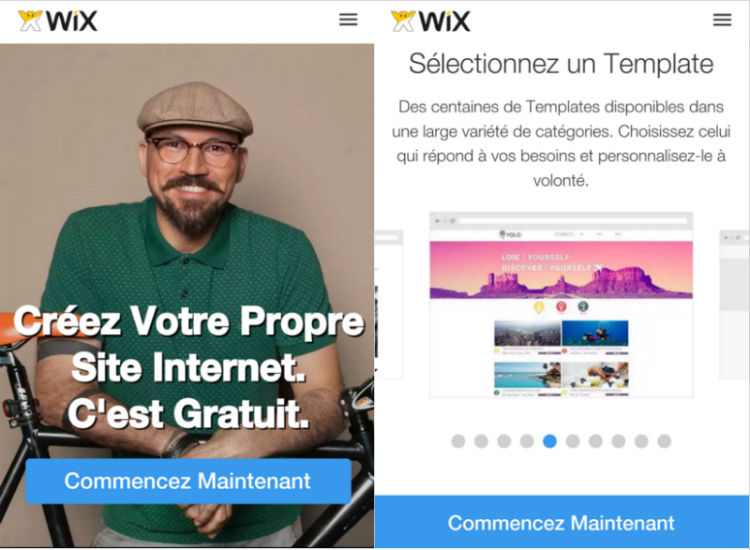 UX Mobile Wix
