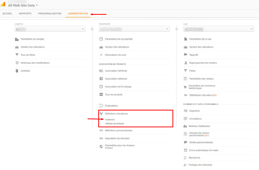 Audience Google Analytics pour Adwords