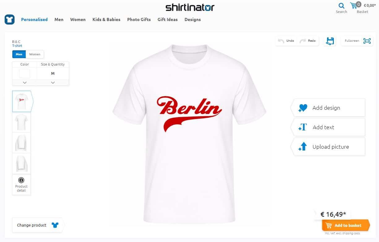 Configurateur Shirtinator