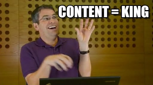 content is king meme