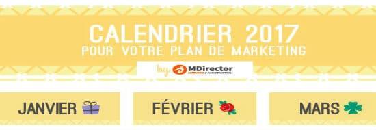 #Infographie du Mercredi : S'aider d'un calendrier marketing pour parfaire sa communication commerciale