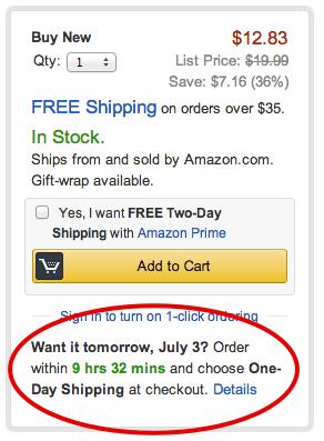 Livraison rapide chez Amazon