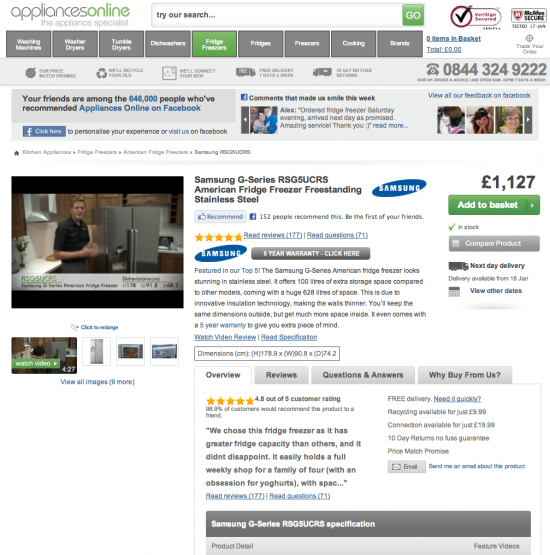 video product page