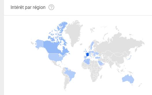 Google trends geo