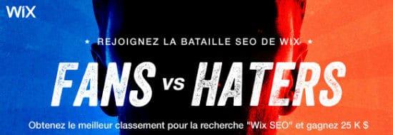 """Wix SEO battle, ou comment la plateforme veut prouver aux """"haters"""" qu'on peut positionner un site Wix en tête des résultats Google"""