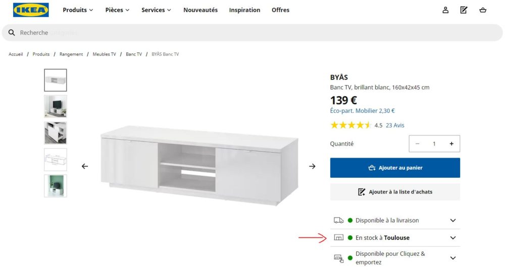 Ikea stock online