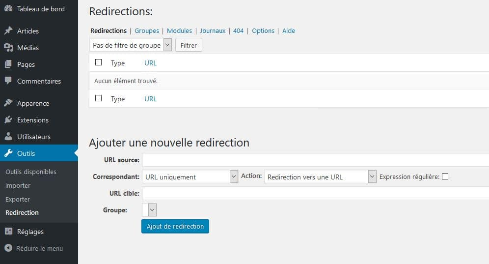 plugin-redirection-backoffice