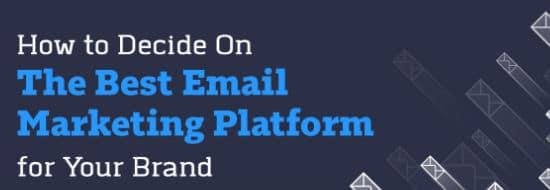 #Infographie du Mercredi : les critères pour bien choisir sa plateforme emailing