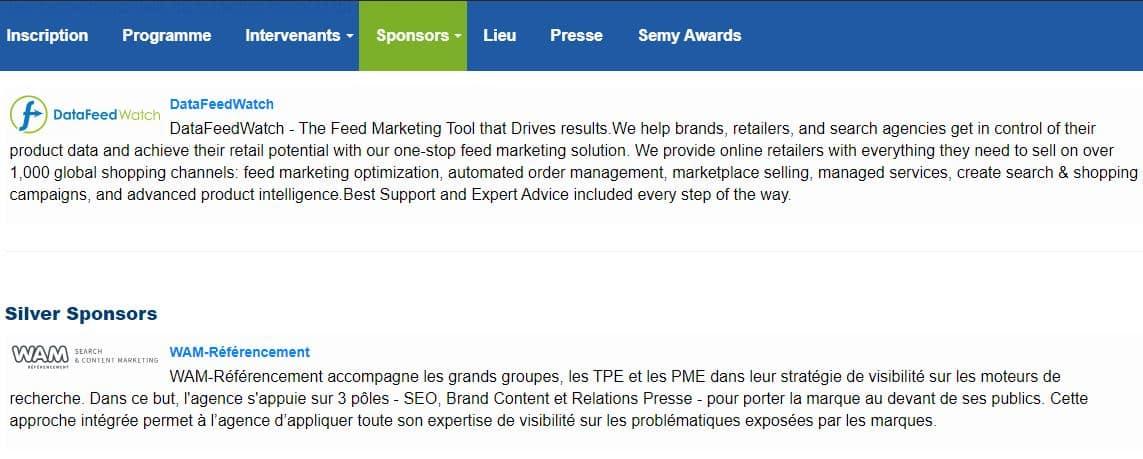 Sponsor SMX
