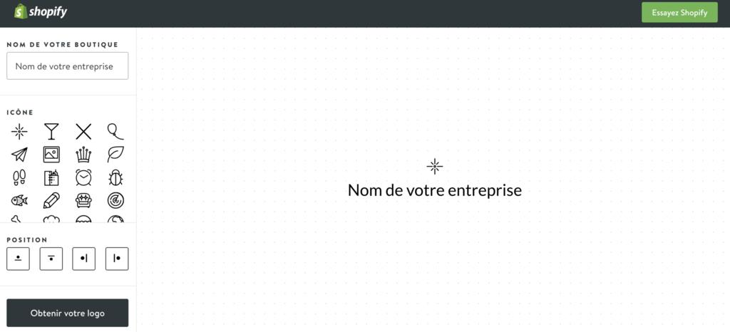 createur de logo shopify