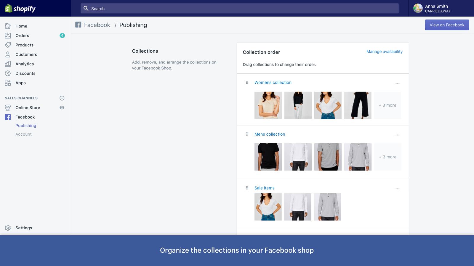 vendre sur facebook avec shopify