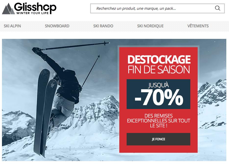 Baseline e-commerce Glisshop