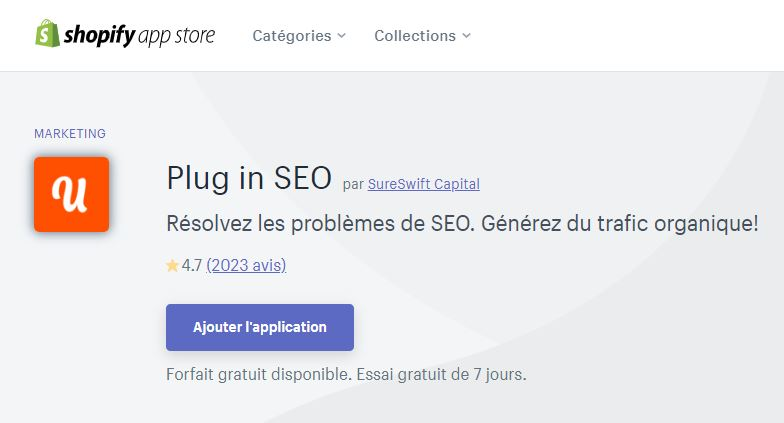 Plugin SEO Shopify