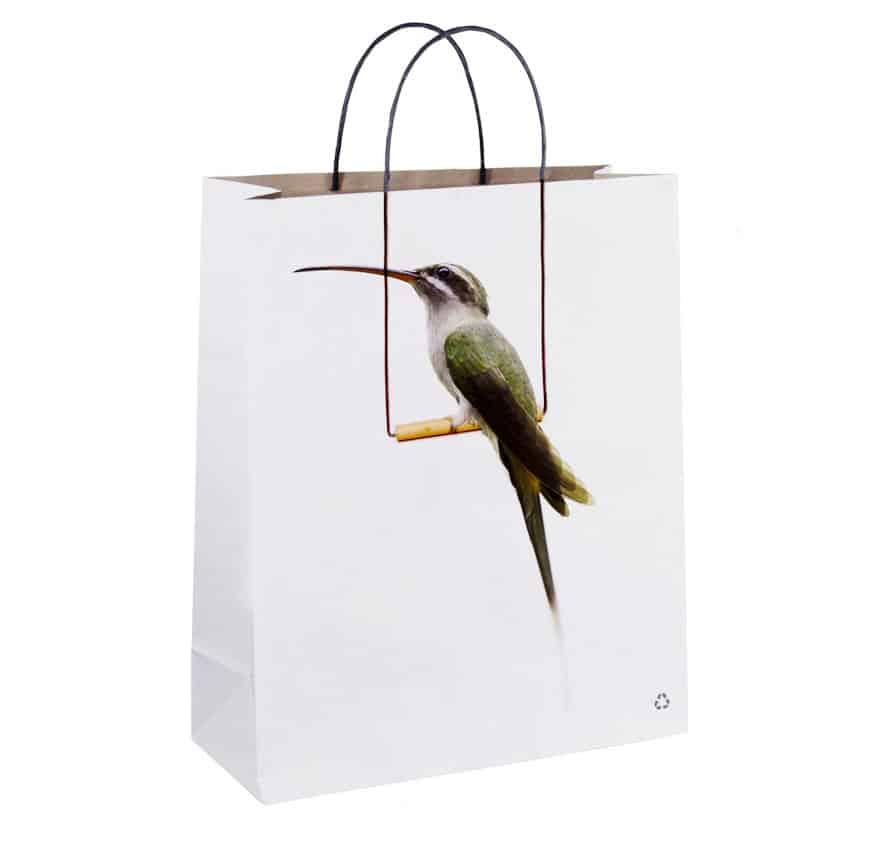 sac personnalise dessin oiseau
