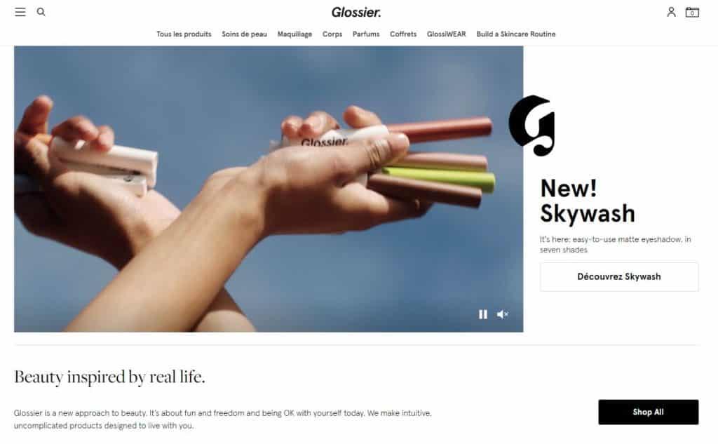 e-commerce emotion Glossier