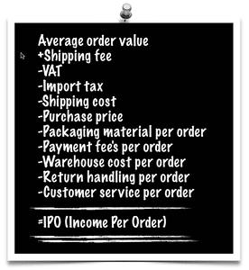 Calcul du cout de traitement d'une commande e-commerce