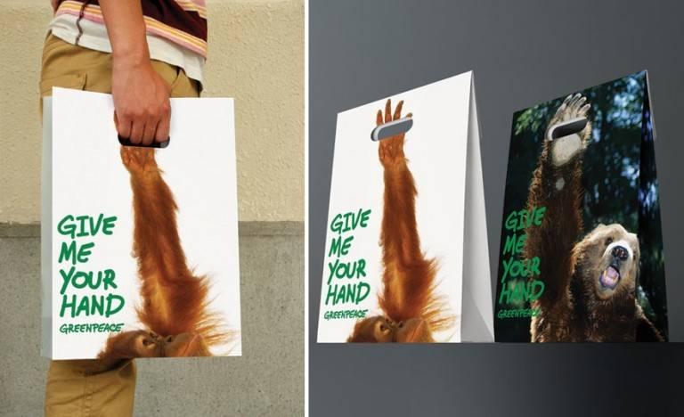 sac publicitaires Greenpeace
