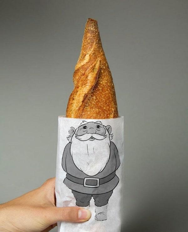 sac personnalisé baguette de pain