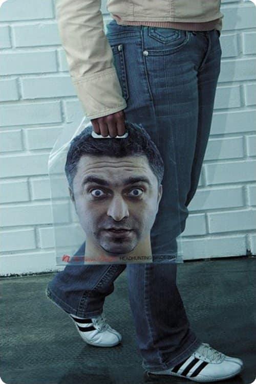 sac personnalisé chasseur de tête