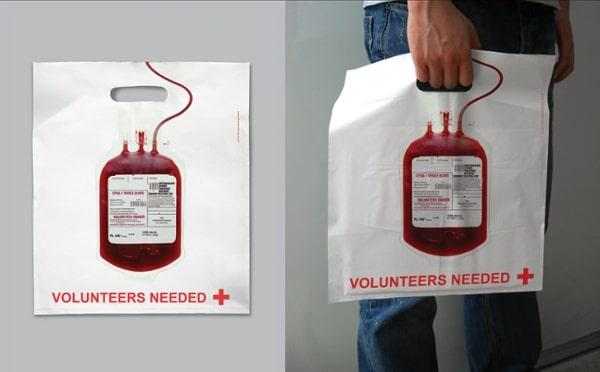sac promotionnel croix rouge