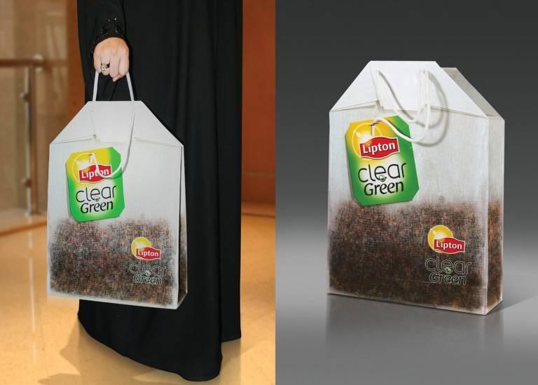 sac publicitaire lipton