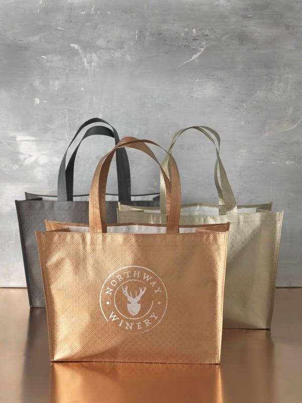 sac personnalisé doré