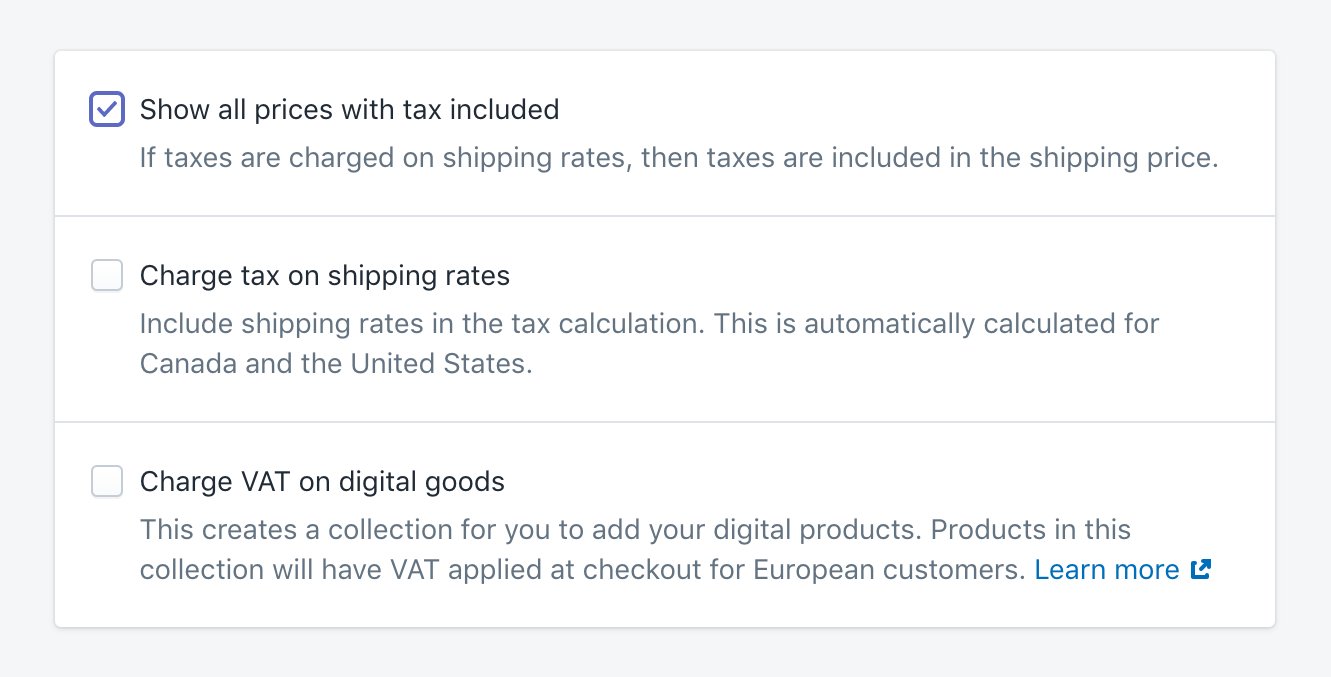 Shopify taxes case
