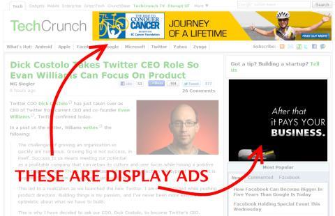 Publicités display rectangle/carré