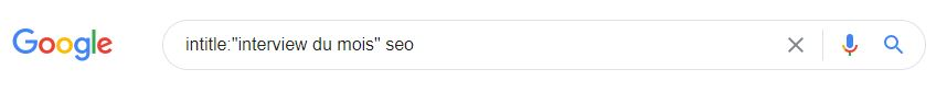 commande intitle Google netlinking seo