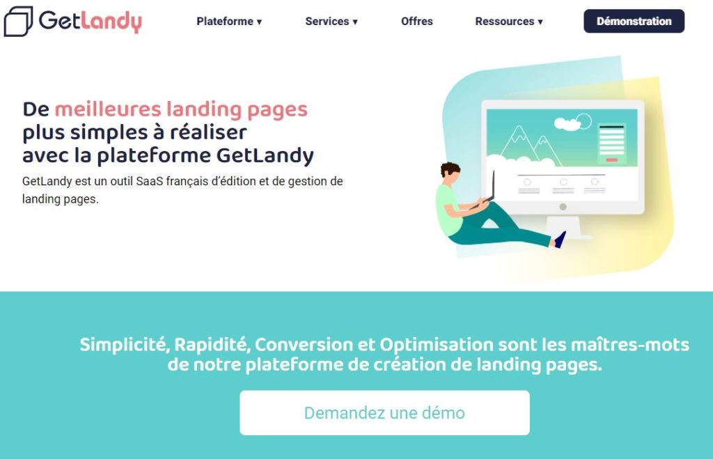 landing page get landy exemple
