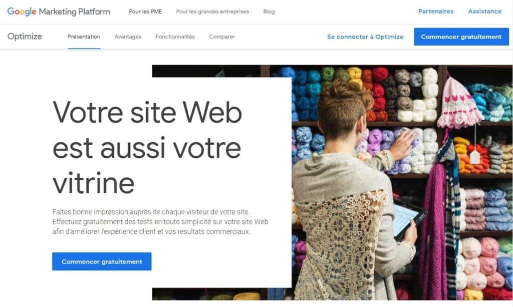 Site web est une vitrine