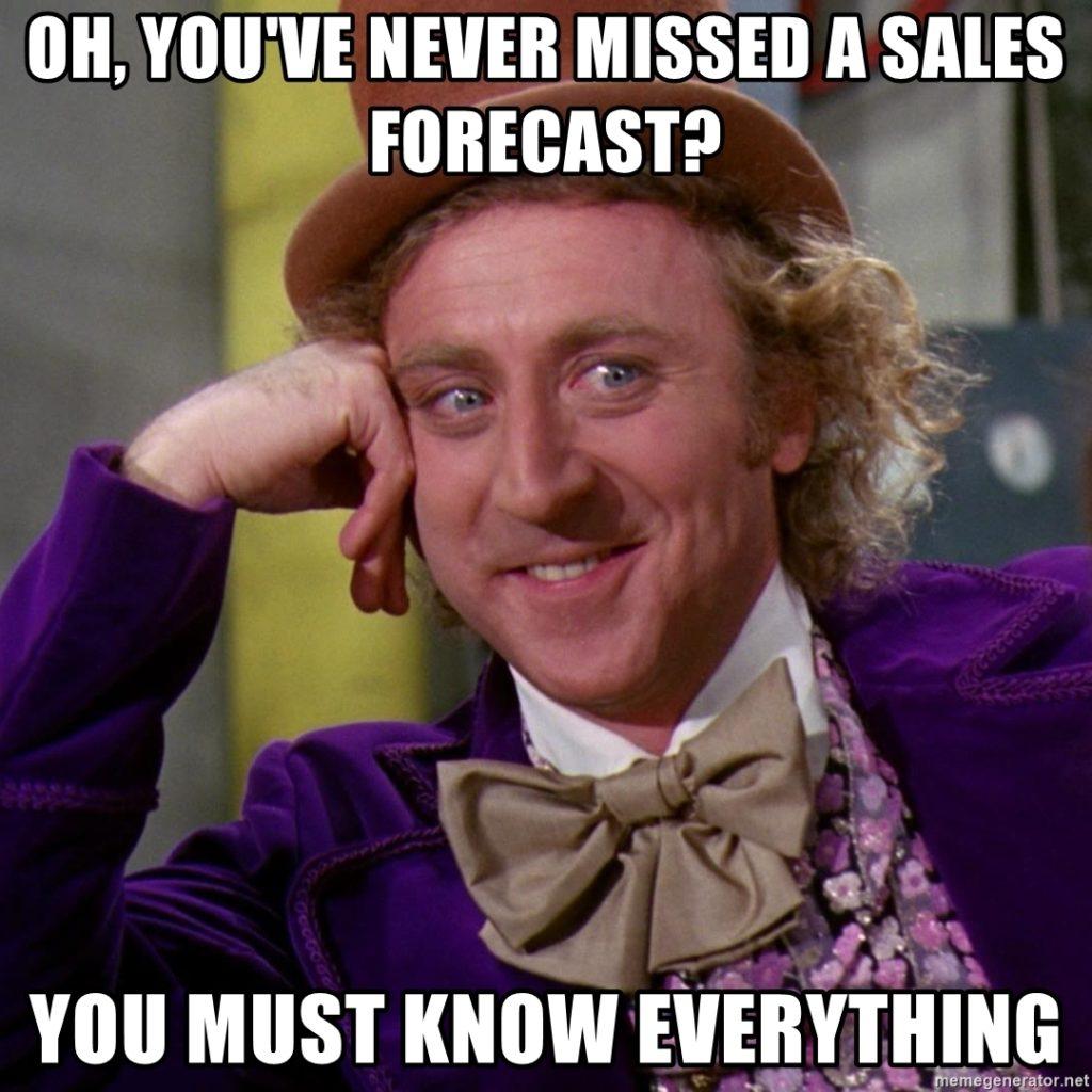 sales forecast meme