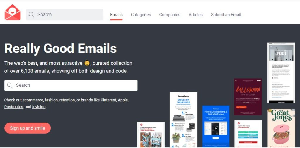 exemples de design d'emailing