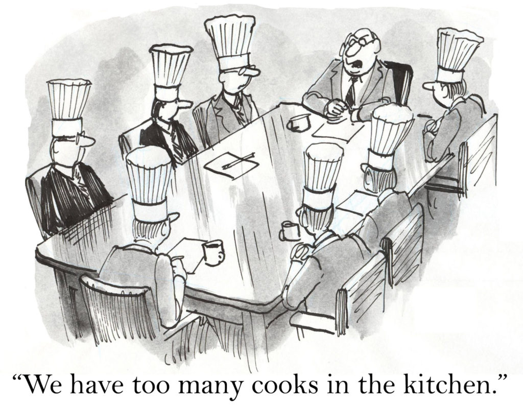 too many cooks in the kitchen comic