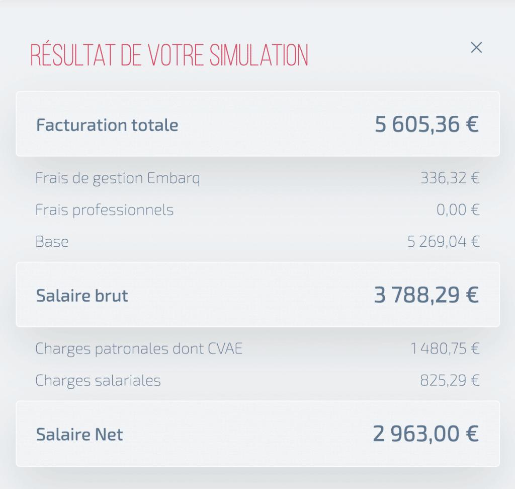 Simulation de salaire