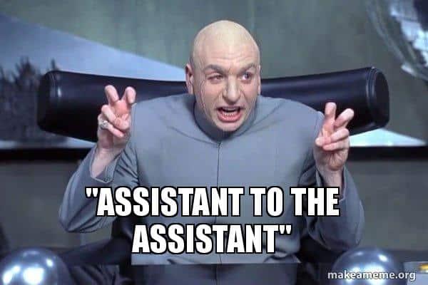 assistant d'un assistant