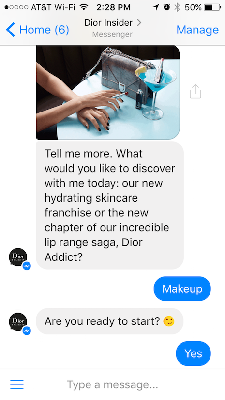 Chatbot Dior Insider
